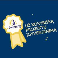 eTwinning projekto padėka